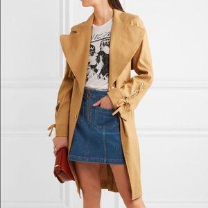 Madewell Denim mini skirt with hoop zipper detail